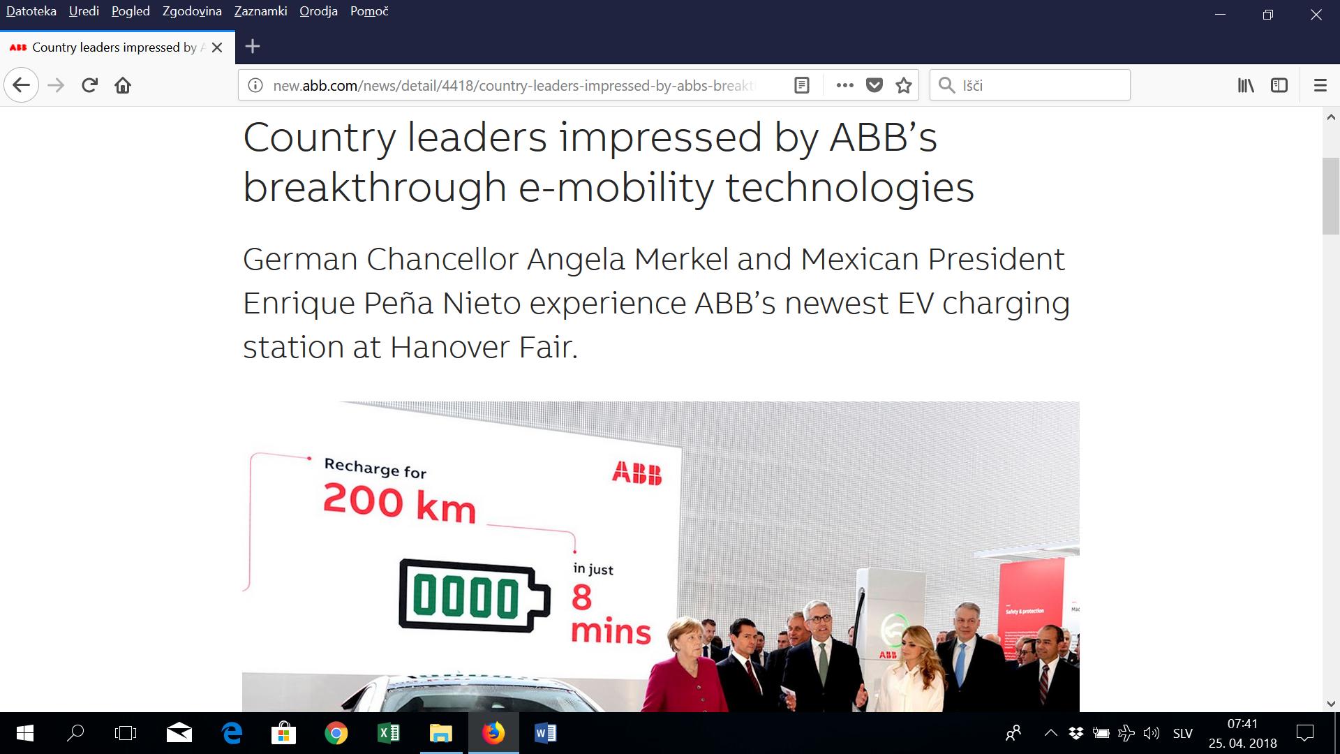 Nova e-polnilnica ABB: v osmih minutah za 200 kilometrov elektrike