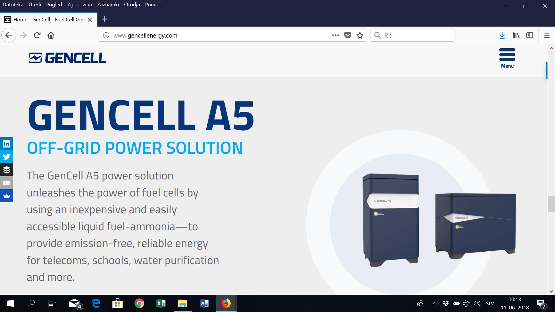 Z amonijakom do elektrike ceneje kot z dizelskim agregatom