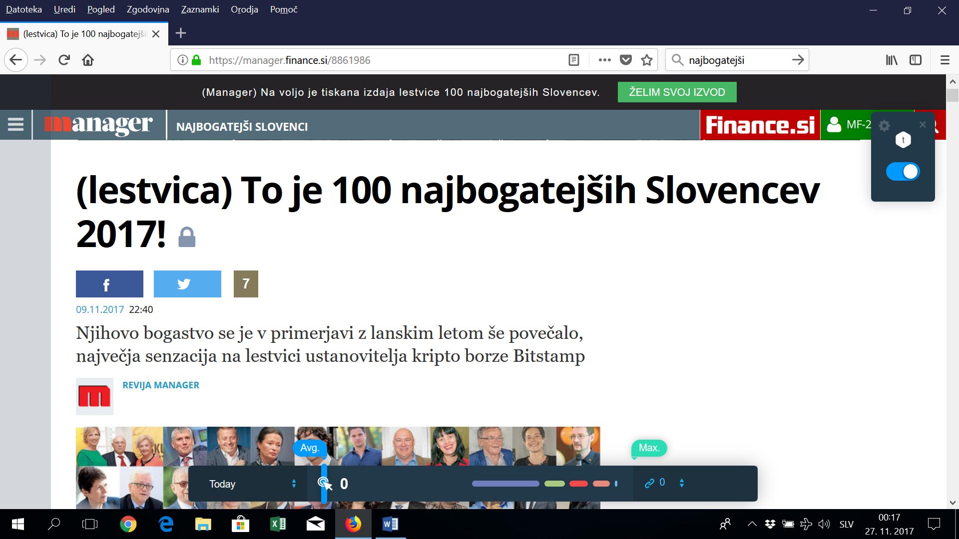 Kateri najbogatejši Slovenci so blizu energetiki