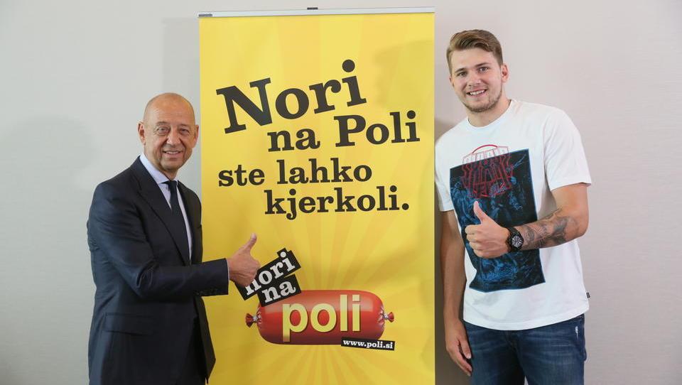 Košarkaški zvezdnik Luka Dončič je novi ambasador klobase Poli, oboji z načrti v ZDA