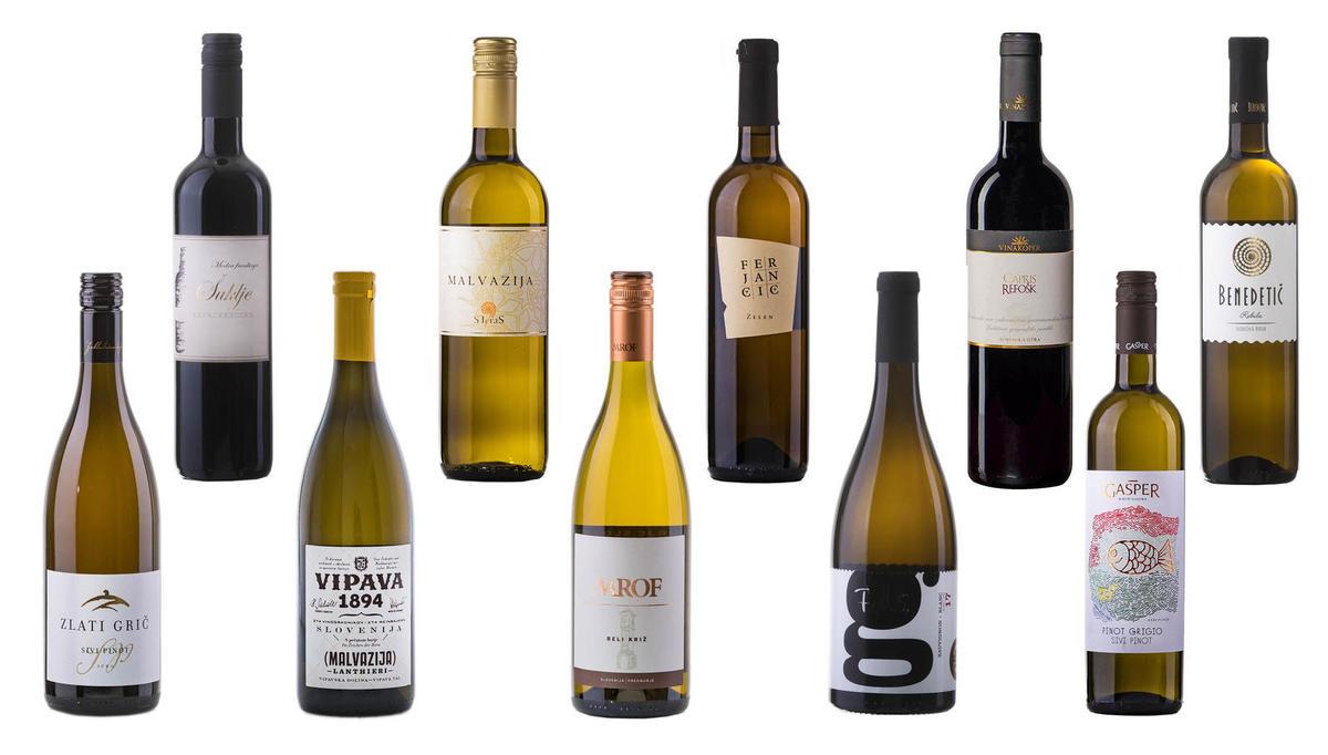 (IZBOR) 10 prazničnih vin do 8 evrov
