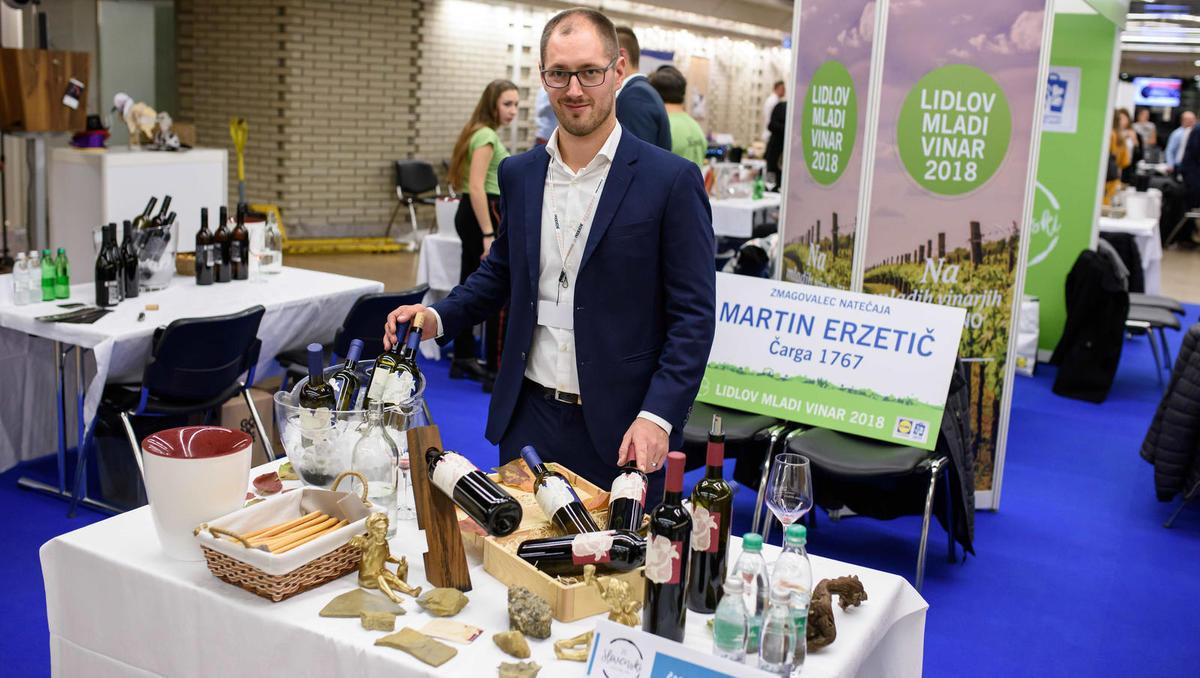 Lidlov mladi vinar je Martin Erzetič s posestva Čarga